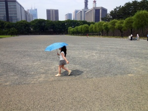 young tourist at the Imperial Palace