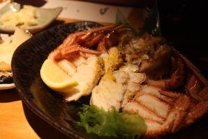 Boiled Hokkaido hairy crab at Aburiya