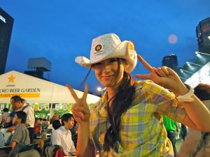Girl Beer Seller Sapporo Beer