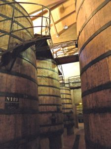 Bodegas Muga's oak tanks