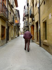 Quiet street in Laguardia Spain