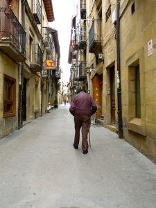 Quiet street in Laguardia Spain