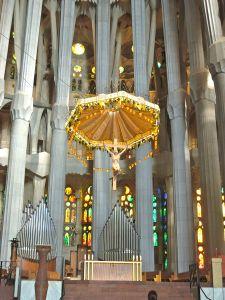 Interior and cross, Sagrada Familia