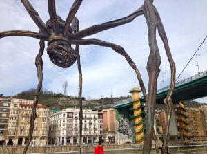 Maman by Louise Bourgeois, next to the Guggenheim