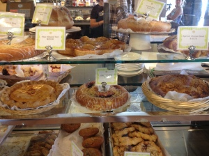 Pastry case at The Buttery