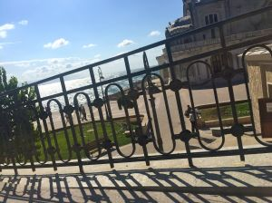 Costanta casino through the ironwork, next the Black Sea