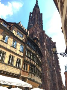 The spire peeks past the Kammerzell