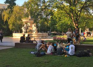 Hanging out in Erzsébet (Elizabeth) Square