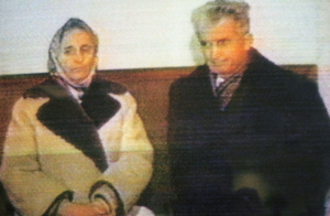 The Ceaușescus immediately after their sentencing