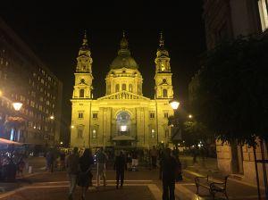 The basilica at night